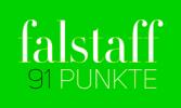Falstaff-Schriftzug mit Punkteerwähnung