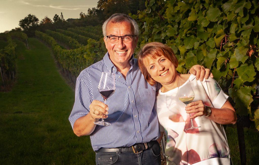 Maria und Ludwig Gilg im Weingarten
