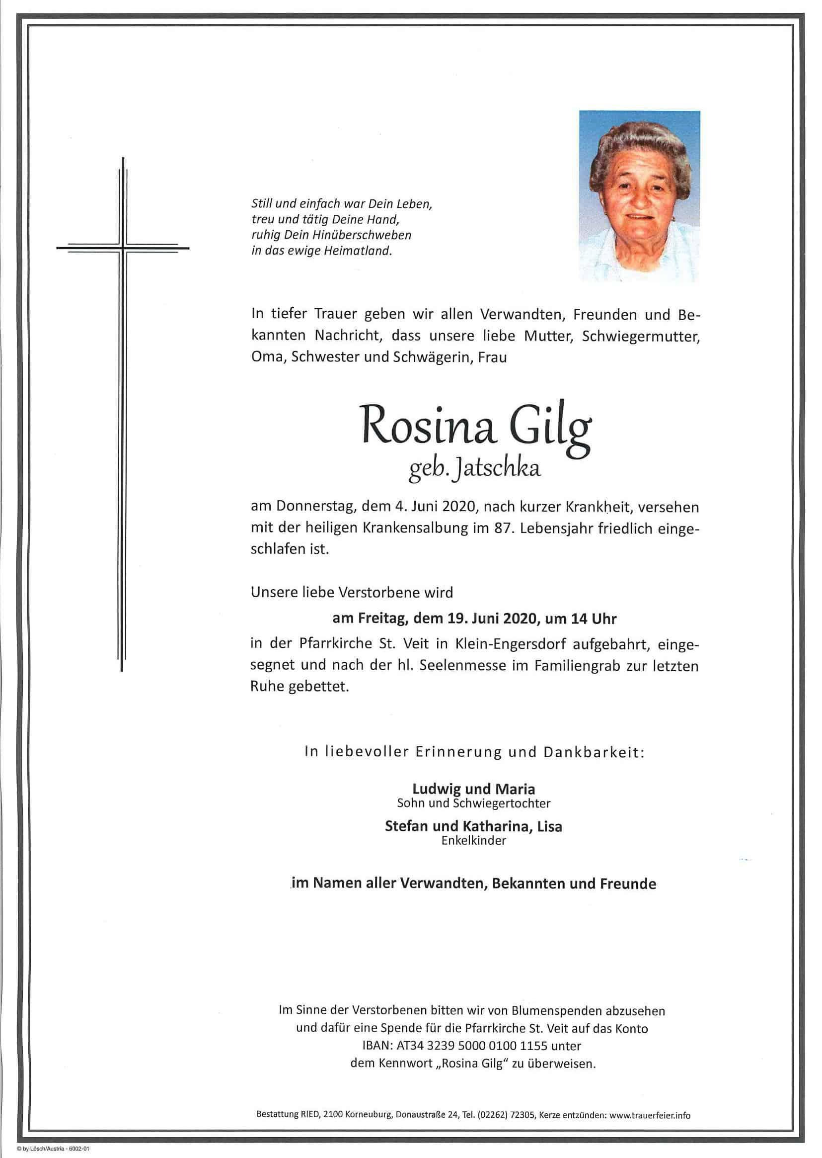 Parte Rosina Gilg